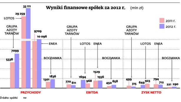 Wyniki finansowe spółek za 2012 r.
