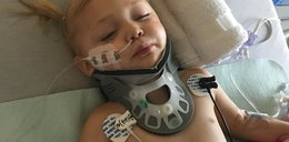 2-latka jest częściowo sparaliżowana. Wszystko przez szklankę