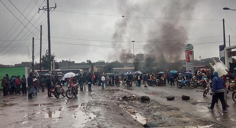 Nairobians hold Monday morning protests
