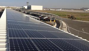 Solar panels at South Africa's George Airport