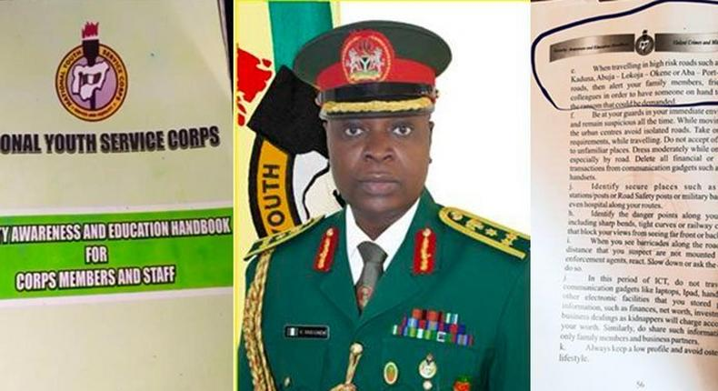 NYSC Booklet contain tips on payment of ransom if corps members are kidnapped. (Punch)