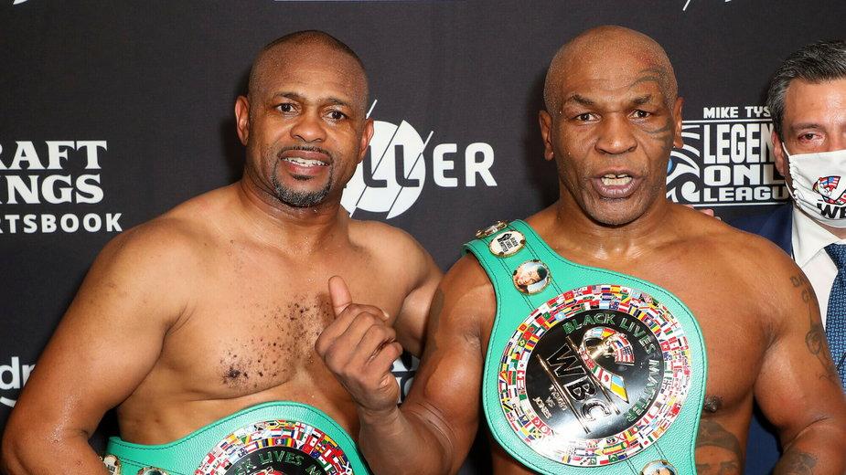 Roy Jones, Jr. i Mike Tyson po walce