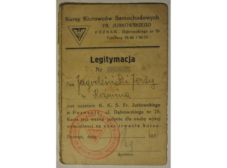 Legitymacja Jerzego Jagodzińskiego