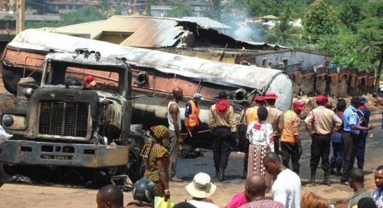 Diesel tanker causes fire outbreak in Ibadan, killing one
