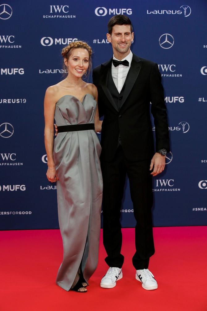 Jelena i Novak Đoković u februaru u Monte Karlu