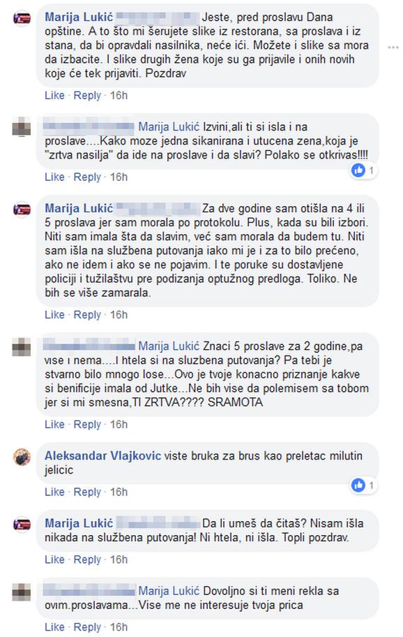 Napadi na Mariju Lukić ne prestaju