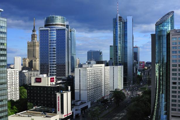 Panorama centrum biznesowego Warszawy. Fot. Zbigniew Panow (materiały prasowe UM Warszawy)