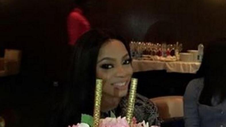 Toke Makinwa's new flame throws her a surprise dinner