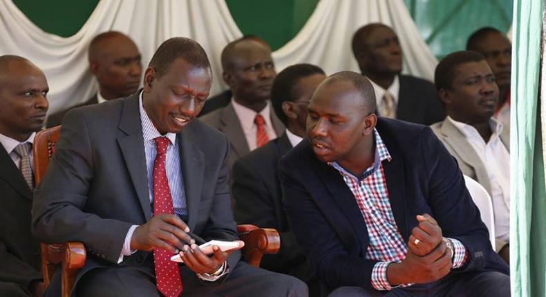 File image of DP Ruto with Kipchumba Murkomen