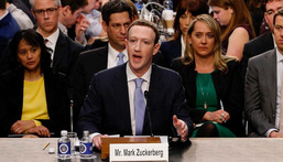 Facebook co-founder, Chairman and CEO Mark Zuckerberg testifies before a combined Senate Judiciary and Commerce committee hearing in the Hart Senate Office Building on Capitol Hill April 10, 2018 in Washington, DC.