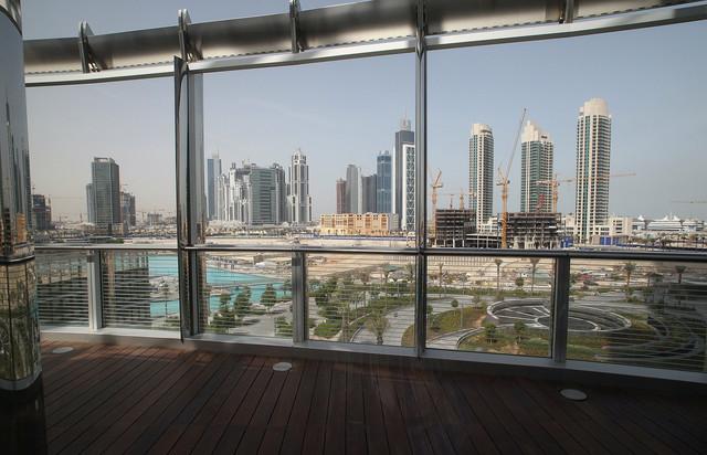 Pogled sa terase Armanijevog hotela u Dubaiju