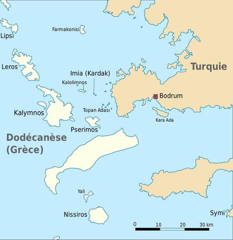 Grčka i Turska dugo su se sporile oko suvereniteta nad ostrvomImija