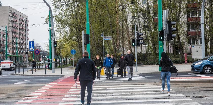 Nowe przejście dla pieszych na Głogowskiej
