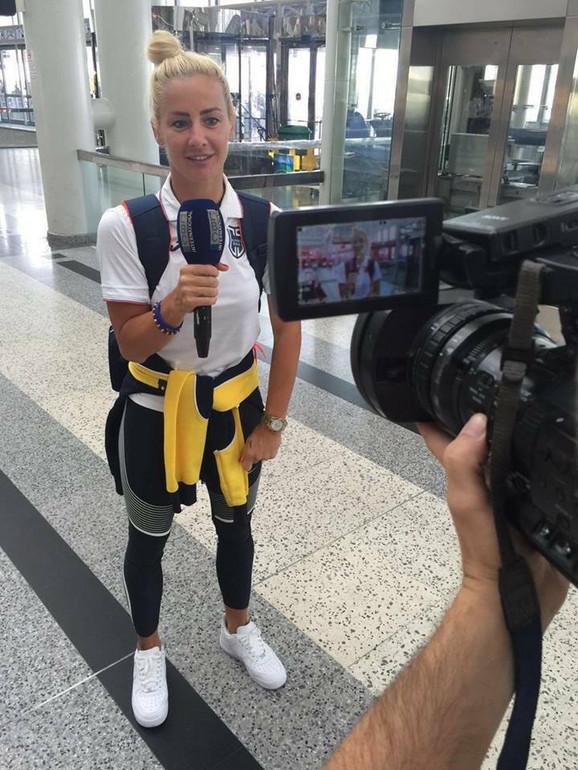 Milica Dabović daje izjavu za libanske medije