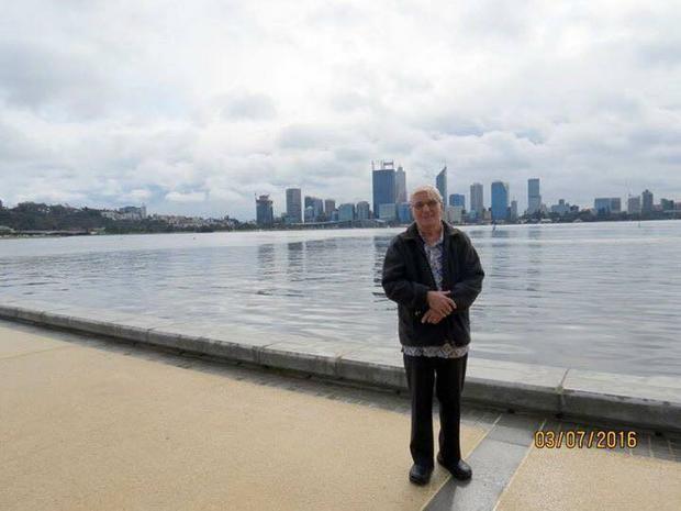 Stefan Leks w Perth (Australia) po wykładach na temat Miłosierdzia Bożego