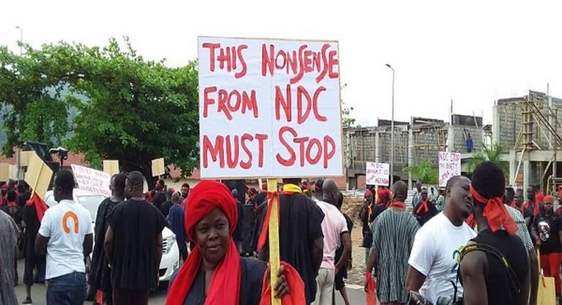 Kyebu demonstration