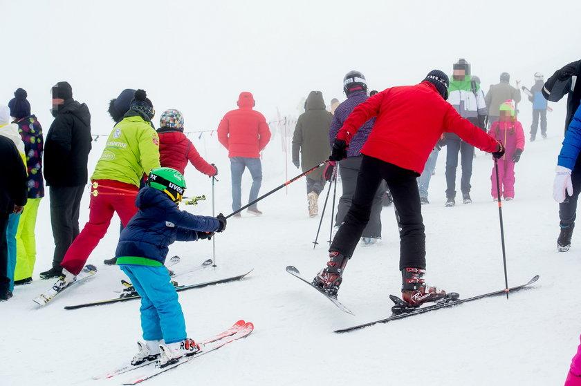 Piotr Kraśko na nartach