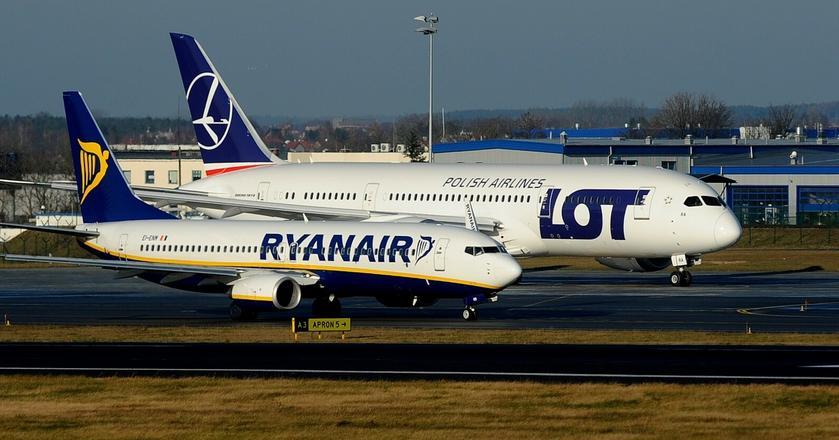 Ryanair jest największą linią lotniczą w Europie. PLL LOT chce stać się dominującym przewoźnikiem w Europie Środkowej