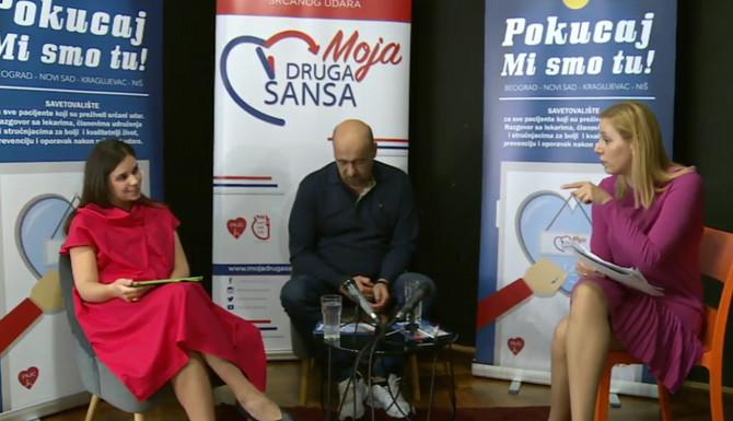 """Učesnici savetovališta ovog puta bili su kardiolog Milana Jaraković i Predrag Slepčević , predstavnik Udruženja """"Moja druga šansa"""""""