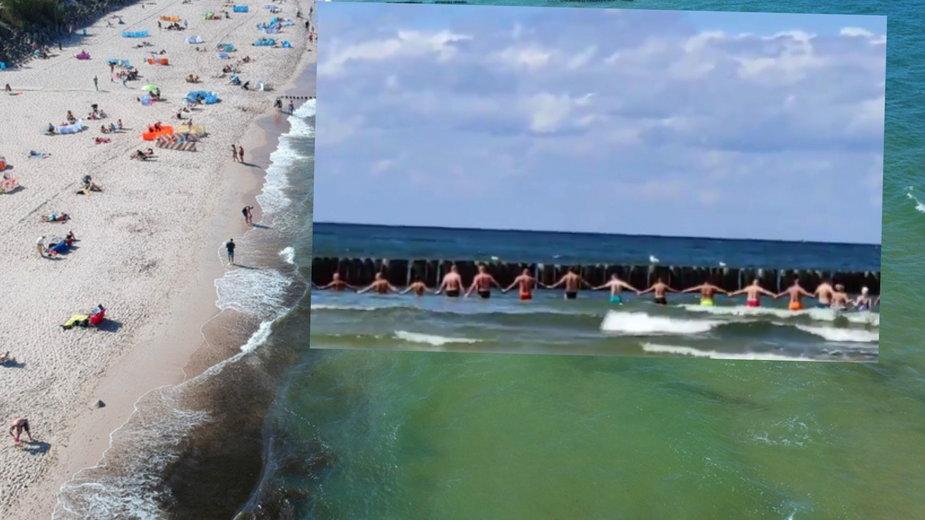 Fałszywy alarm na plaży w Dziwnówku. Utworzono łańcuch życia