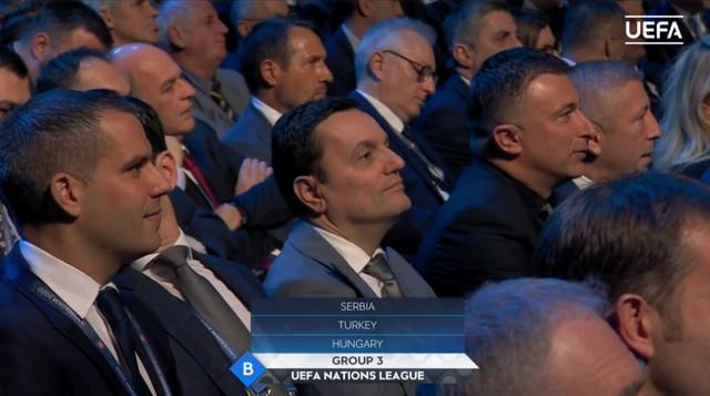 Delegacija Srbije na žrebu Lige nacija