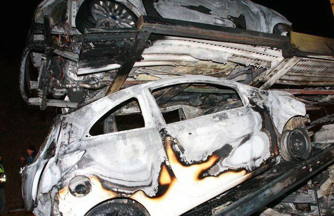Płonące fordy z Polski