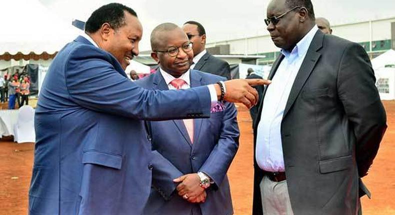 Kiambu Deputy Governor James Nyoro (right) and Governor Ferdinand Waititu (left)