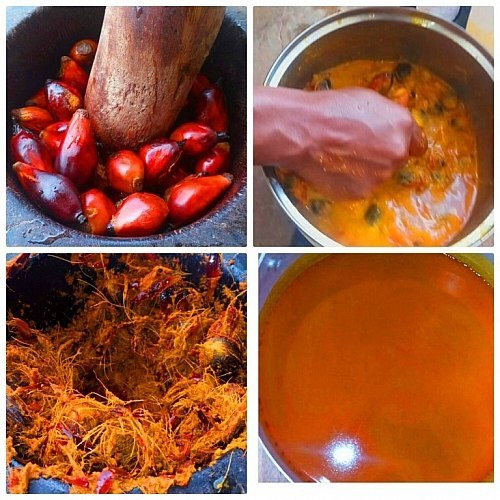How to extract palm fruit extract for Banga soup