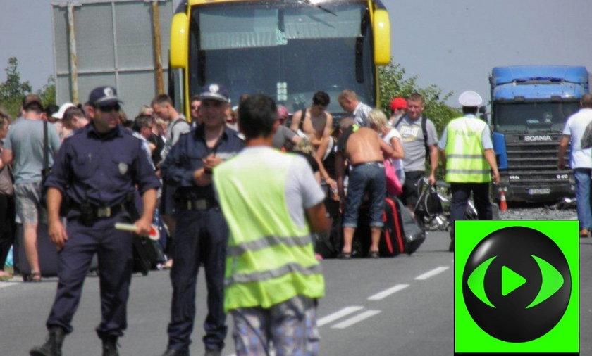 Wypadek polskiego autokaru w Bułgarii.