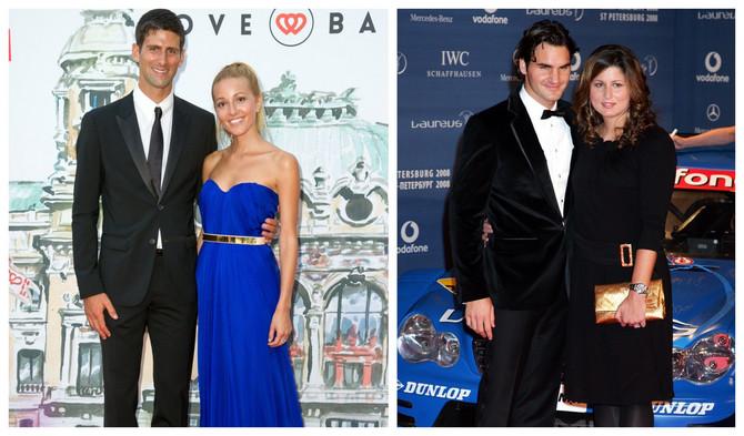 Jelena i Novak Đoković i Mirka i Rodđer Federer