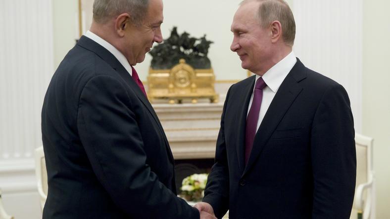 Benjaminowi Netanjahu i Władimir Putin