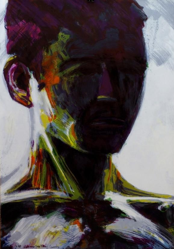 Glava dečaka - omaž M. Rogiću, 2016. algrafija