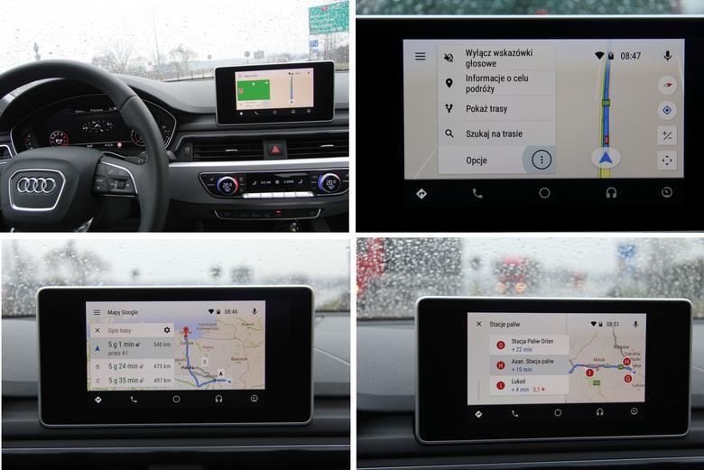 Audi A4 2016 Android Auto nawigacja