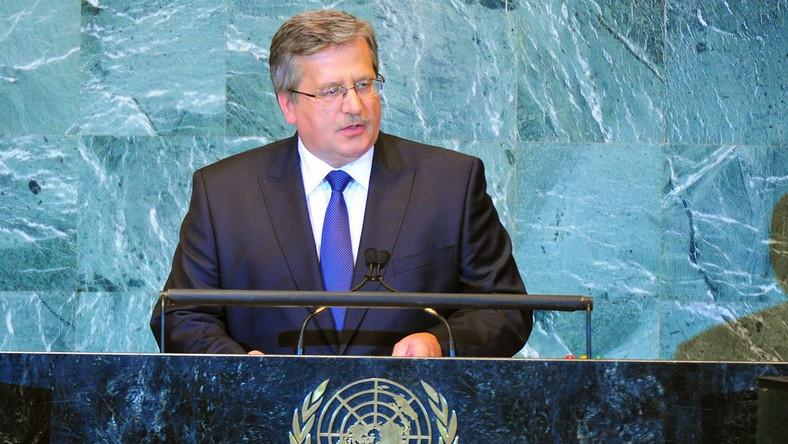 Bronisław Komorowski w ONZ