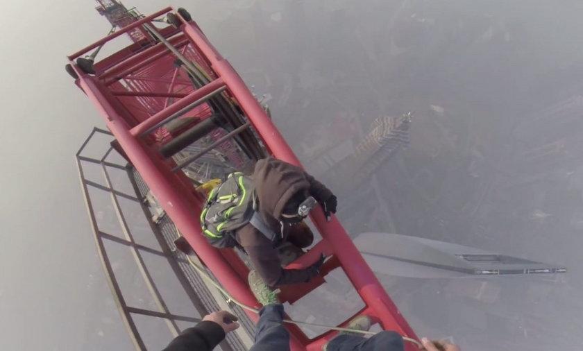 Debile weszli na Shanghai Tower - 650 m!