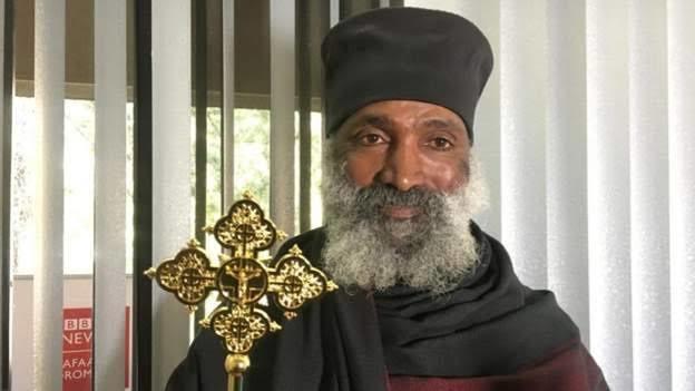 Ethiopian Orthodox priest Abba Aklilemariyam. (BBC)