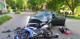 Młody chłopak zginął na motorze