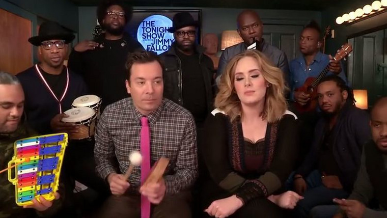 "Jimmy Fallon, Adele i The Roots wykonują ""Hello"""