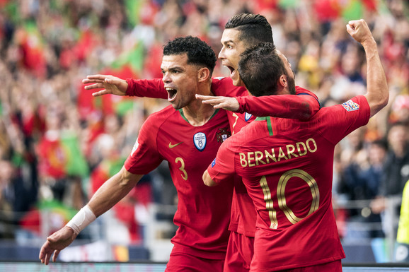 Reprezentativci Portugala - Pepe, Kristijano Ronaldo i Bernardo Silva