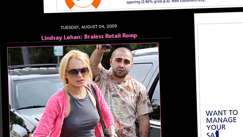 Lindsay Lohan znów bez stanika
