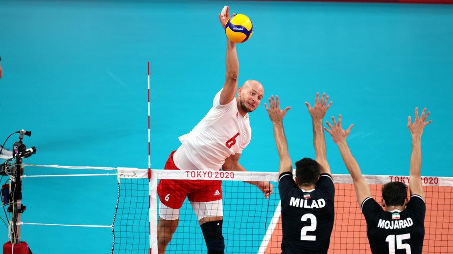 Bartosz Kurek w meczu z reprezentacją Iranu