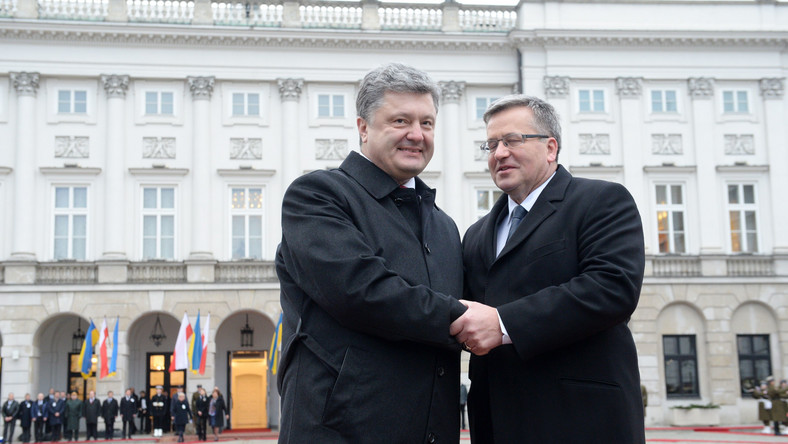 Petro Poroszenko i Bronisław Komorowski