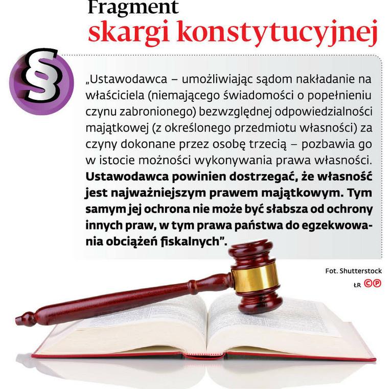 Fragment skargi konstytucyjnej