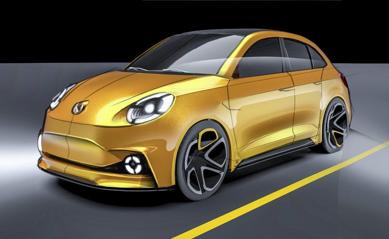 Syrena EV - projekt wersji elektrycznej ma ok. 4 metrów długości. Pojemność bagażnika to 338 l. Samochód waży ok. 1468 kg