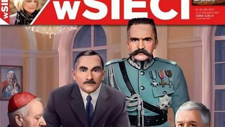 """Okładka najnowszego numeru tygodnika """"W Sieci"""""""
