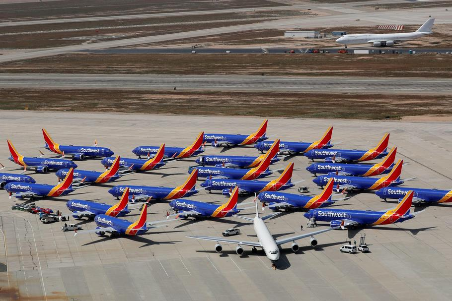 FILE PHOTO: FILE PHOTO: A number of grounded Southwest Airlines Boeing 737 MAX 8 aircraft are shown