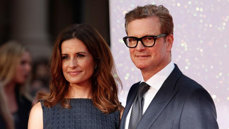 Colin Firth z żoną Livią