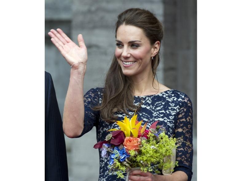 Uśmiech nie schodzi z twarzy księżnej Catherine.