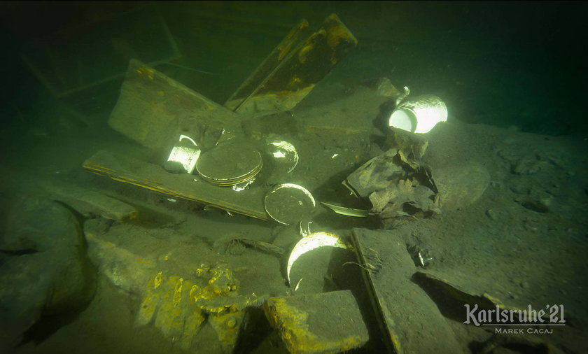 Niemcy. Wyprawa na wrak statku Karlsruhe. Co kryje w sobie podwodna maszyna?