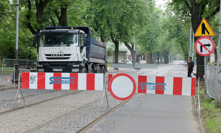 Remont torowiska w Łodzi